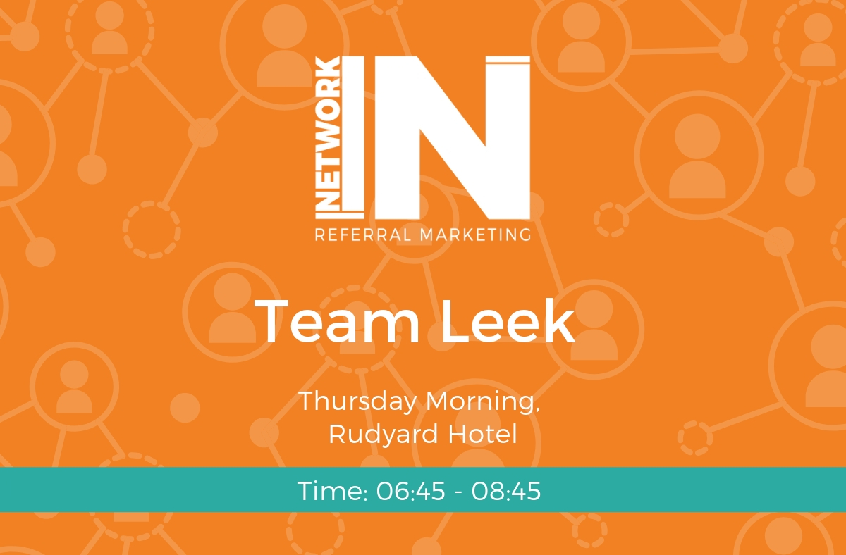 NetworkIN Team Leek at the Rudyard Hotel graphic