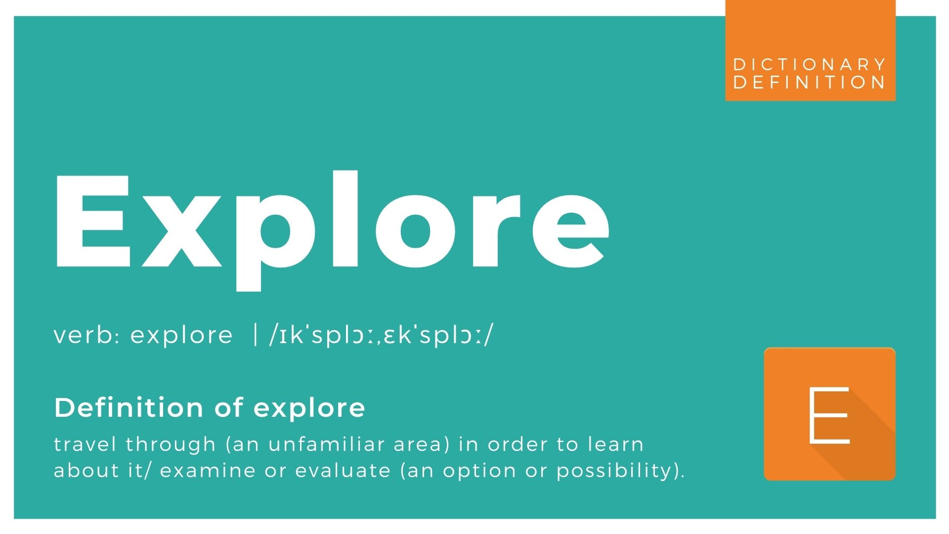 Explore dictionary definition graphic