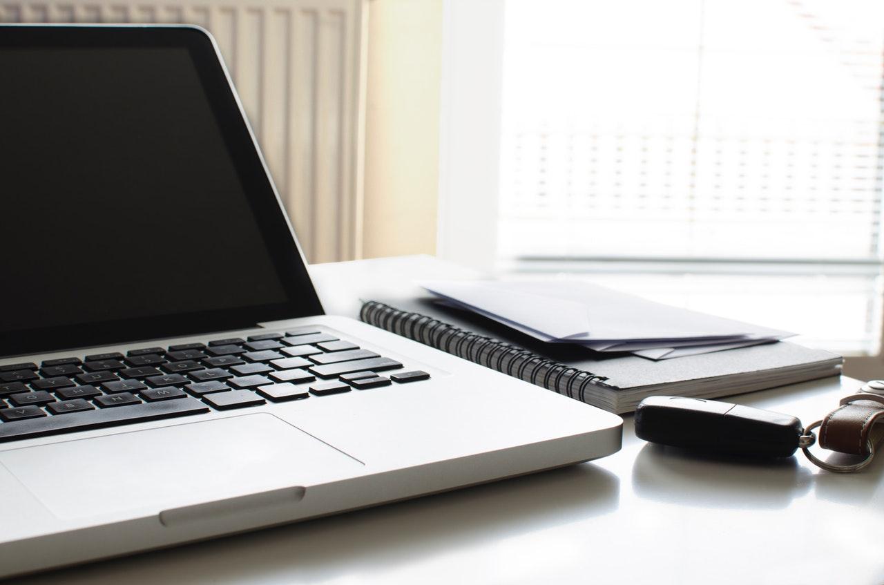 Remote working laptop