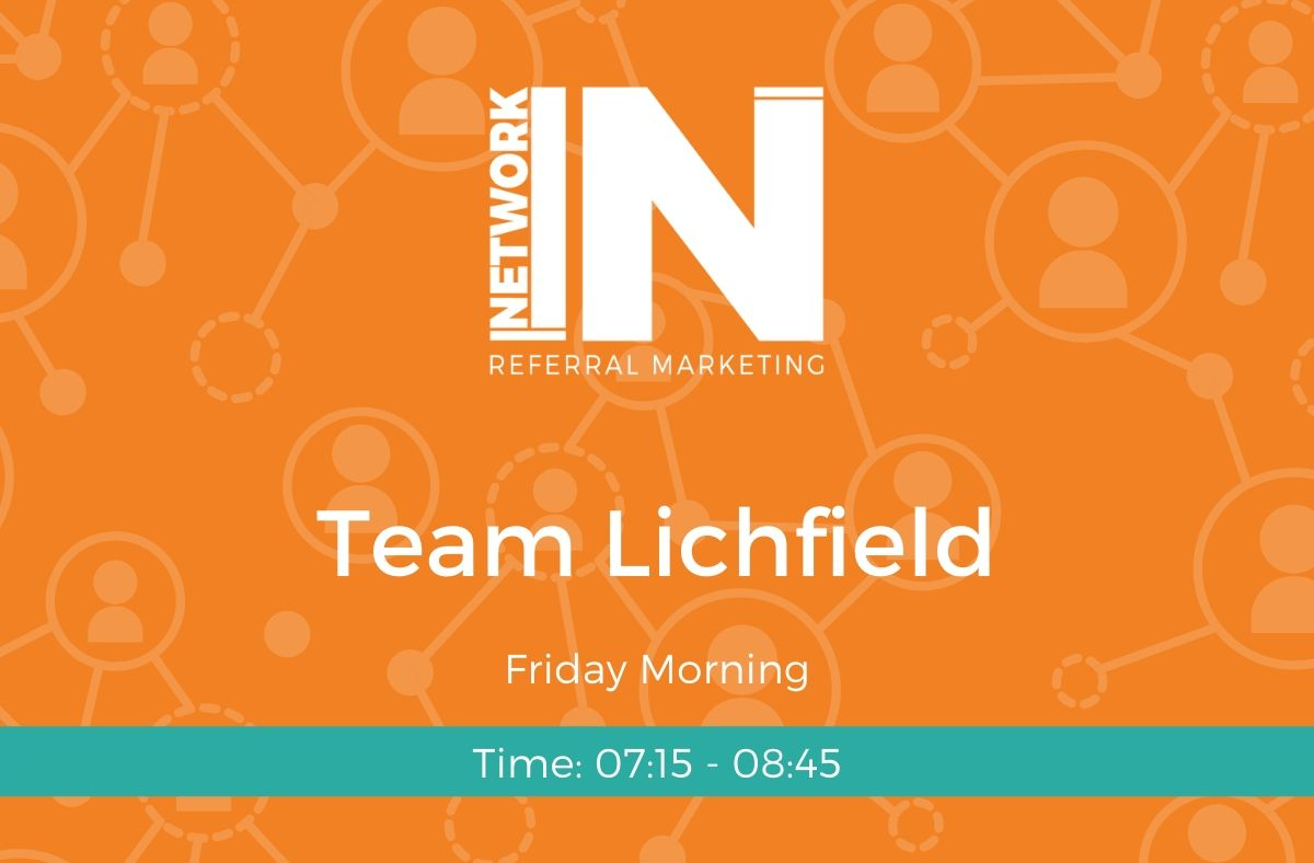 Team Lichfield Friday online meeting graphic