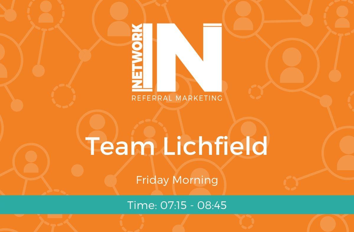 Team Lichfield Friday online meeting graphic