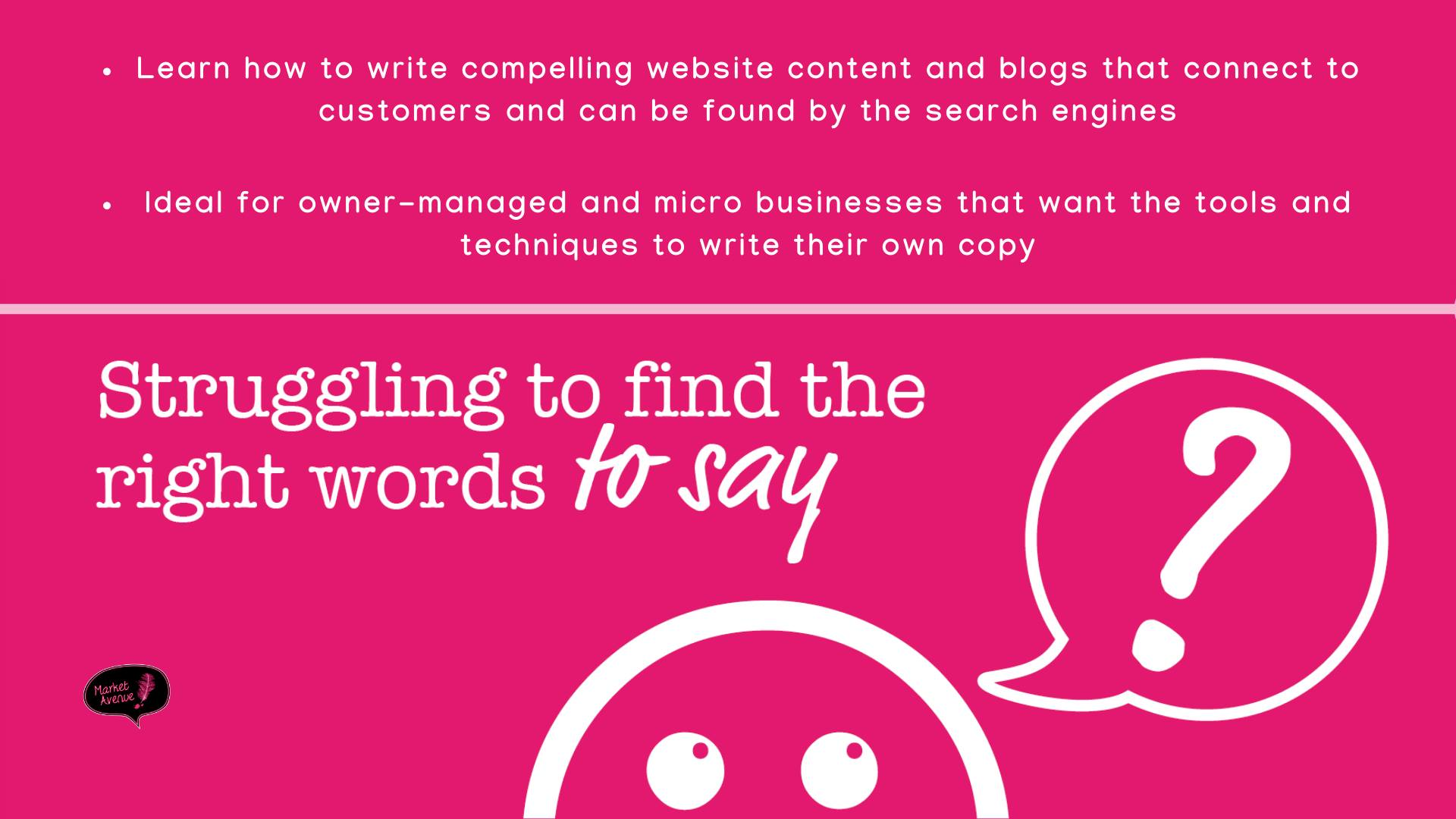 Copywriting for Business Owners event graphic