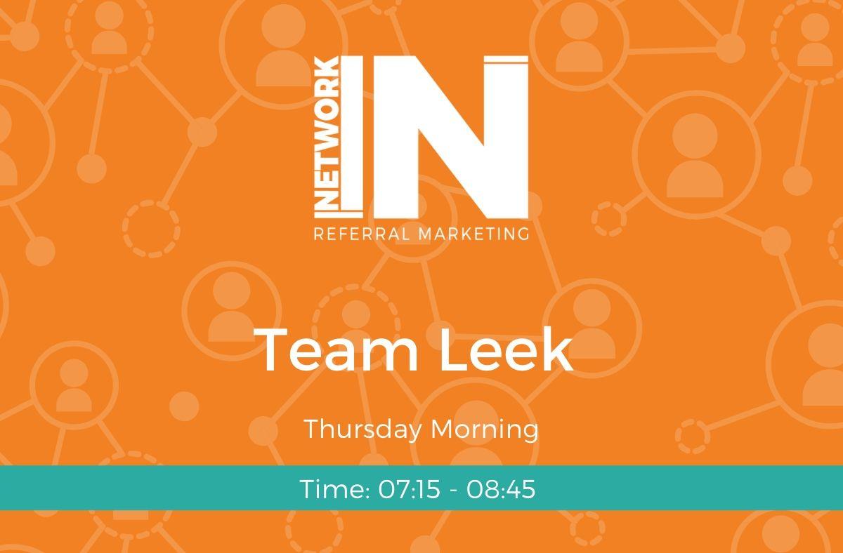 NetworkIN Team Leek meeting graphic