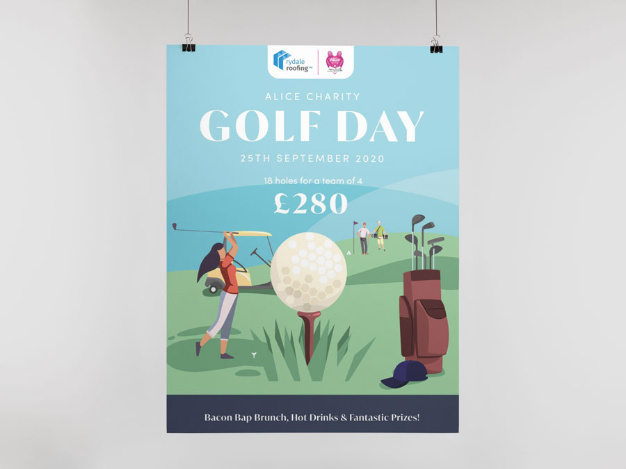 Alice Charity Golf Day Poster