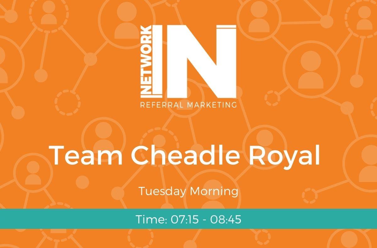 Cheadle Royal NetworkIN team graphic
