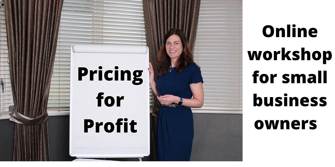 Alison Bradford delivering the online workshop pricing for profit