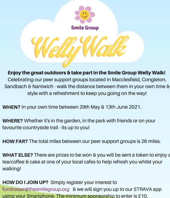 The Smile Group's Welly Walk flyer